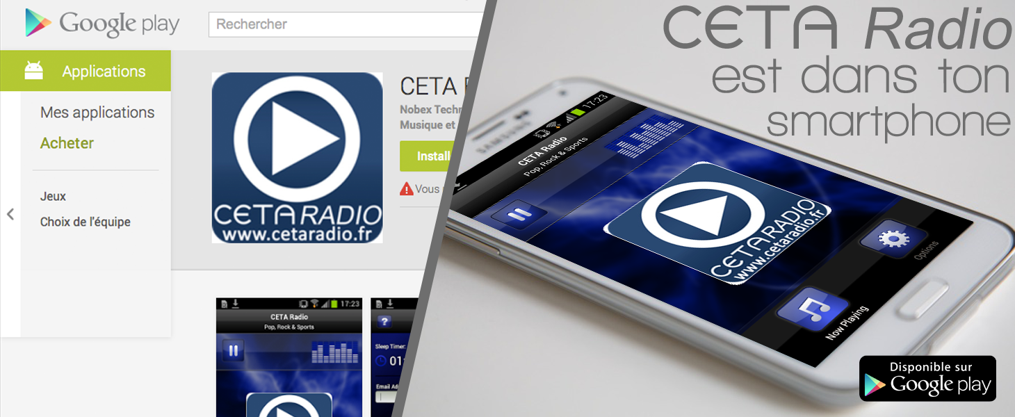 Application Android CETA Radio